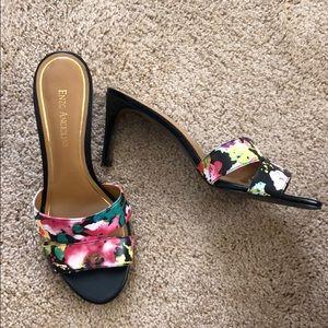 Enzo Angiolini floral slide heels